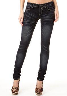 Alloy Royal Blue Dark Ultra-Skinny Jean on shopstyle.com