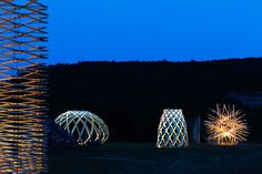 14 structures play with balance for hello wood 2014 in rural hungary - designboom | architecture & design magazine