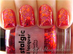 Nostalgic Nail Lacquer 'Angela' $3 really great, but I have so many red glitters - fill line