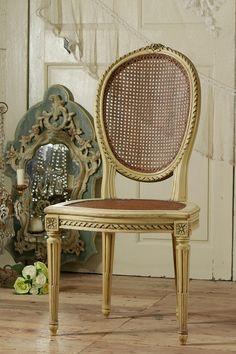 アンティーク 籐のフレンチチェア   French Antique Rattan Chair
