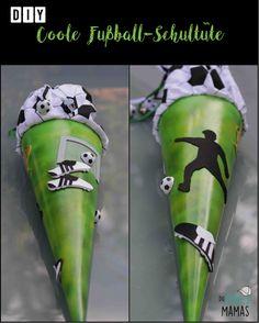 DIY Fußball Schultüte für Jungs // Fußball Zuckertüte selber machen mit Moosgummi
