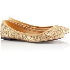 H&M Ballet pumps ($11) ❤ liked on Polyvore featuring shoes, flats, h&m, sapatilha, sapatos, woven shoes, glitter flats, ballet flat shoes, h&m shoes and ballerina pumps