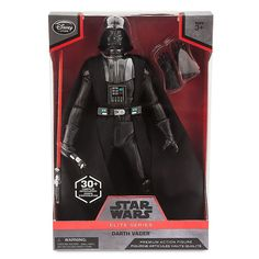 Star Wars Elite Series Darth Vader Premium Action Figure 10 Inch. Genuine, Original, Authentic Disney Store. Fully poseable. Includes Darth Vader figure, extra set of gloves and lightsaber. 30+ points of articulation. Meticulously crafted premium series action figure.