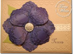 Blossom Petal Punch Card - Stampin' Up by Tami White. http://stampwithtami.com/blog/2011/02/blossom-petal-punch/