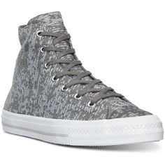 Converse Women's Gemma Hi Winter Knit Casual Sneakers from Finish Line ($50) ❤ liked on Polyvore featuring shoes, sneakers, converse sneakers, converse shoes, converse trainers, converse footwear and knit shoes