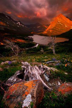 Color Symmetry Glacier National Park, MT.