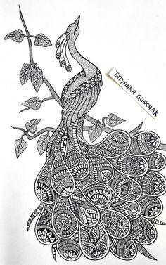 by Tatyanka-Gunchak on DeviantArt Doodle Art Drawing, Zentangle Drawings, Mandala Drawing, Black Pen Drawing, Mandala Sketch, Floral Drawing, Zentangle Patterns, Art Drawings Beautiful, Cool Art Drawings