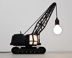 My nephew would LOVE this DIGGER lamp!!! :D