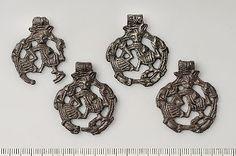 Gripping beast pendants, Viking age from Uppland, Sweden. Swedish History…