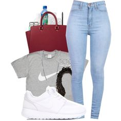 A fashion look from August 2015 by nnenna21 featuring NIKE, MICHAEL Michael Kors, BERRICLE, Kate Spade, Chanel and Fresh
