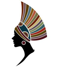 Zbiór illustration vector of African women silhouette fashion models, beautiful black women on white background grafik oraz ilustracji wektorowych. Arte Tribal, Tribal Art, African American Art, African Women, Black Women Art, Black Art, White Women, Worli Painting, Afrique Art