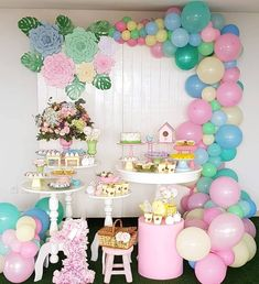 There are many ideas for your baby birthday party, balloon decorations are popular in such parties. Baby Birthday Themes, Butterfly Birthday Party, Birthday Balloon Decorations, Girls Party Decorations, Birthday Balloons, Girl Birthday, Birthday Parties, First Birthdays, Baby Shower