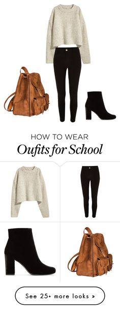 """School routine"" by dina-001 on Polyvore featuring River Island and Yves Saint Laurent"