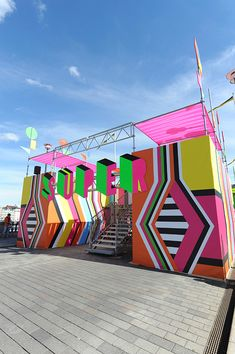 superstructure by morag myerscough and luke morgan is a temporary structure created for the kulturfestival in stockholm.