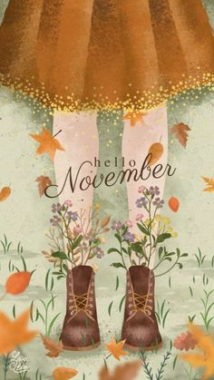 Hello November Printable Illustration for Autumn # Fall Print … – Wallpaper Ideas
