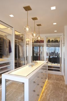 Modern Walk In Closet Designs Walk In Closet Design, Bedroom Closet Design, Master Bedroom Closet, Closet Designs, Master Suite, Tiny Closet, Dream Closets, Closet Space, Shoe Closet