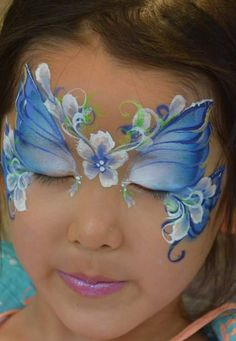 butterfly fairy make up Elsa Face Painting, Painting For Kids, Butterfly Face Paint, Butterfly Fairy, Butterfly Flowers, Butterflies, Face Painting Tutorials, Face Painting Designs, Skeleton Face Paint