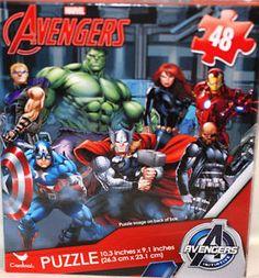 Casse-tête puzzle Avengers, 48 pièces, 3+ ans. 4.99$  Disponible en boutique ou sur notre catalogue en ligne. Livraison rapide au Québec.  Achetez-le info@laboiteasurprisesdenicolas.ca