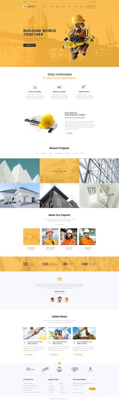 Construction - Clean Construction PSD Template