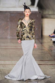 Zac Posen at New York Fashion Week Fall 2012 #IONshadesoffall