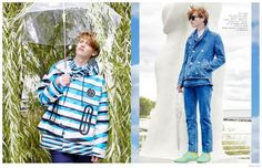Spring Day-Young Fusion model Robbie McKinnon is back in the spotlight, appearing in a solo fashion editorial to accompany his new Visual Tales cover. Spring 2015 Fashion, Spring Day, Editorial Fashion, Cover, Tops, Blanket