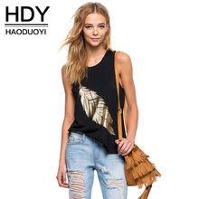 HDY Haoduoyi Femmes Noir Sexy Lâche Mince Plus La Taille Dames Débardeur Coton Sans Manches Imprimer Casual Feminina pour la vente en gros(China (Mainland))