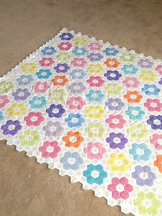 My first hand sewn quilt. A little more white and then I'll be ready to batt and quilt