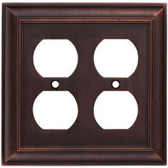 Shop allen + roth 2-Gang Oil Rubbed Bronze Standard Duplex Receptacle Metal Wall Plate at Lowes.com