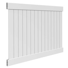 Veranda White Vinyl Linden Pro Privacy Fence Panel Kit (Common: 6 ft. x 8 ft; Actual: 72.5 in. x 94.25 in.)-73013298 - The Home Depot