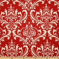 54'' Wide Premier Prints Indoor/Outdoor Ozborne American Red Fabric By The Yard