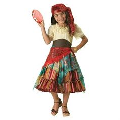 Buy.com - Girls Super Deluxe Fortune Teller or Gypsy Costume - Halloween Costumes for Girls
