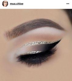Glittering eye makeup