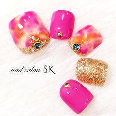summer foot nail