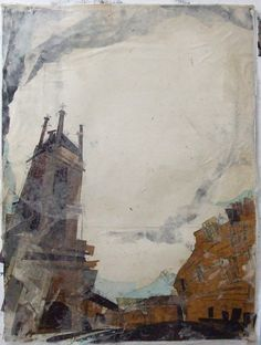Towards St Stephens Church, Stockbridge Collage with Monoprint and Wax x Collage Landscape, Michael Art, Watercolor Mixing, Eye For Beauty, Fine Arts Degree, Ap Studio Art, Street Painting, Circus Art, House Drawing