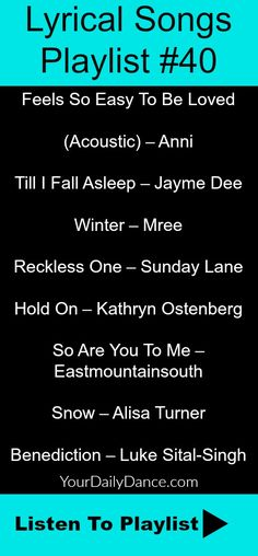 Lyrical Songs Playlist #40 #dance #music #lyrical