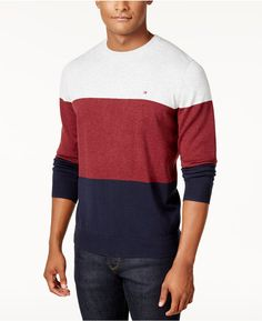 Tommy Hilfiger Men's Signature Colorblocked Sweater