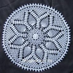 All of us love crochet doilies and more so if they are pineapple crochet doily patterns and that too free, have a look here and start one today Free Crochet Doily Patterns, Crotchet Patterns, Crochet Designs, Free Pattern, Knitting Patterns, Dress Patterns, Crochet Round, Crochet Home, Crochet Crafts