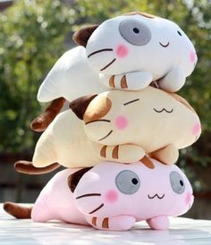 Stuffed Animal Plush Doll Toy Cute Cat Pillow Quality Bolster Gift