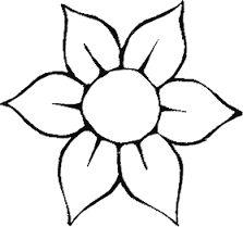Resultado de imagem para desenho de flores para colorir