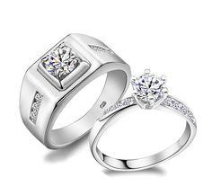 60% от пара кольцами пара для мужчин и женщин стерлингового серебра 925 камень обручальное кольцо для любовь ювелирных изделий Ulove J473купить в магазине ULOVE Fashion JewelryнаAliExpress