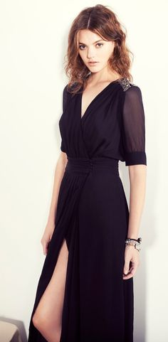 Mia Long Embellished Dress with slit...slit is a bit high but all else is lovely.