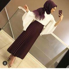 Muslim Fashion 449867450279721364 - Skirt outfits hijab abayas New ideas Source by shaakirahcharle Hijab Style Dress, Hijab Chic, Hijab Outfit, Modern Hijab Fashion, Muslim Fashion, Modest Dresses, Elegant Dresses, Abaya Mode, Hijab Fashionista