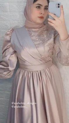 Hijab Evening Dress, Hijab Dress Party, Evening Dresses, Beautiful Prom Dresses, Crop Top Outfits, Muslim Fashion, Classy Dress, Fashion Dresses, Dress Up