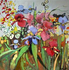 Happy by Mary Pratt. Paintings I Love, Original Paintings, Original Art, Flower Collage, Flower Art, Plant Art, Arte Floral, Mary Pratt, Whimsical Art