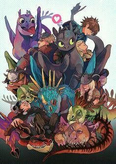 HTTYD dragon friends!