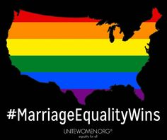 ‪#‎MarriageEquality‬ wins! ‪SCOTUS Marriage‬ 5-4 decision written by Justice Kennedy. Gay marriage is now legal in the United States!