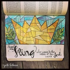Pink Buckaroo Designs: New month, new projects- Bible Journaling with Stampin' Up inks