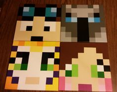 Canvas Paintings 12x12 / Minecraft wall decor by ZuberCrafts