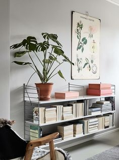 """String Pocket: This shelf is now available to all interior fans at home! - Classic and still trendy: """"String"""" shelf put together yourself - String Regal, String Shelf, Living Room Decor, Living Spaces, Cozy Office, Interior Styling, Interior Design, Interior Office, My New Room"""