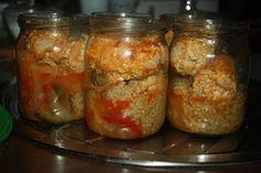 Roladki schabowe w sosie z kaszą , obiad ze słoika - Ogrodnik w podróży Food